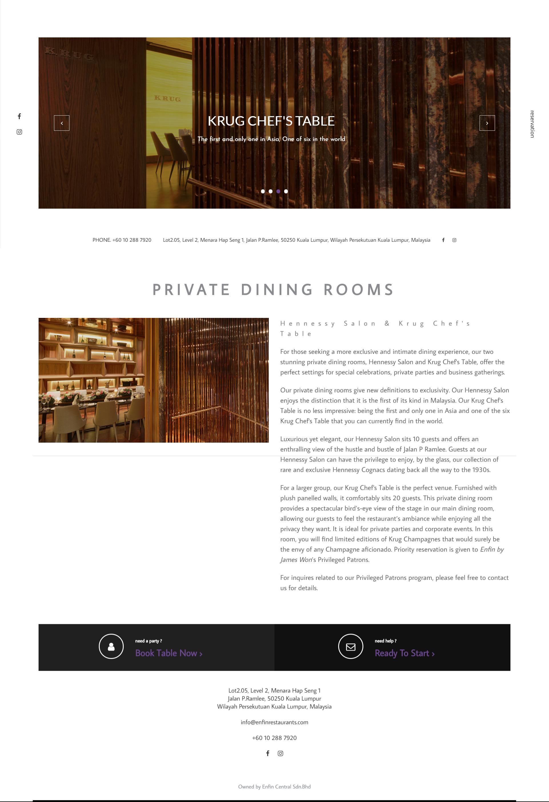 Website design for Enfin by James Won