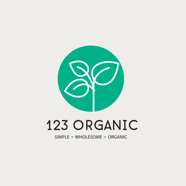 Logo design for 123 Organic