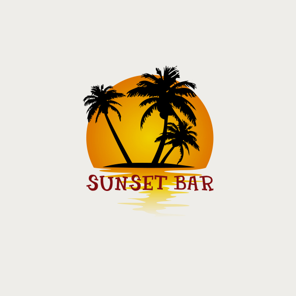 Sunset Bar logo design